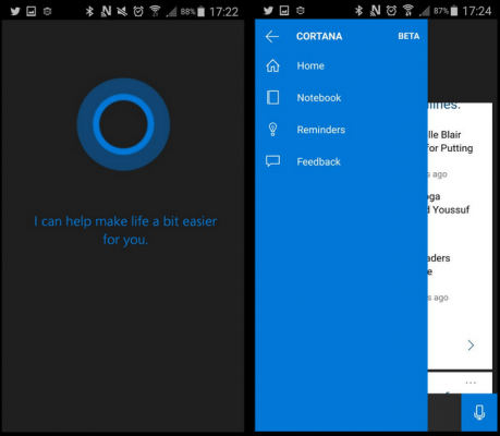 cortana android leaked version download