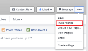 invite all friends to facebook page in single click