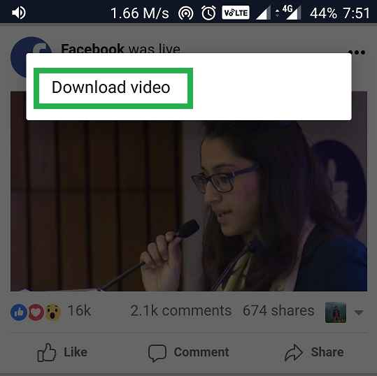 download facebook video to chrome android