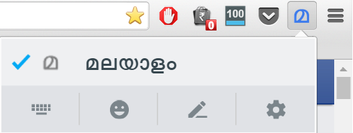 Select malayalam from the tool